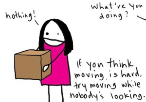 At least we're not moving secretly... Illustration c/o nataliedee.com